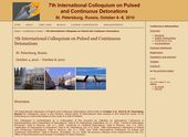 7th International Colloquium on Pulsed and Continuous Detonations (ICPCD 2010)